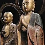 Two Jizo of the Six Paths of Existence, Roku Jizo, Japan, early 18th century (Lot 39, Estimate $8,000-$10,000)