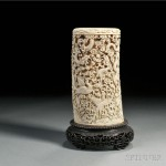 Ivory Tusk Carving, China, 19th century (Lot 248, Estimate $4,000-$6,000)