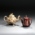 Staffordshire Earthenware Footed Teapot and a Wedgwood Vigornian Teapot,   18th and 19th century (Lot 750, Estimate $400-$600)