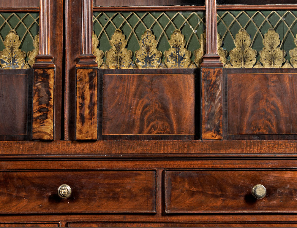 [Detail] Federal Mahogany Carved and Inlaid Lady