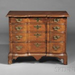 Chippendale Mahogany Block-front Bureau, probably Boston, c. 1760-80 (Lot 87,   Estimate $12,000-$18,000)