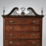 Chippendale Cherry Carved Chest-on-Chest, probably Granby, Connecticut, 1802 (Lot   104, Estimate $40,000-$60,000)