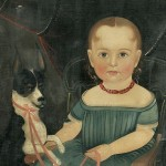 Attributed to Sturtevant J. Hamblen (Massachusetts, 1806-1873) Portrait of Young Girl   Seated in a Rocking Chair with Her Dog (Lot 126, Estimate $30,000-$50,000)