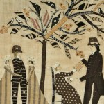 Folk Art Appliqued Needlework Picture of a Family Outing, Burlington, Vermont, area,   c. 1810 (Lot 131, Estimate $40,000-$60,000)