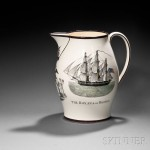 Large Transfer-decorated Liverpool Creamware Jug, England, early 19th century (Lot   256, Estimate $3,000-$5,000)