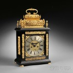 William Speakman Quarter-repeating Bracket Clock, London, c. 1695 (Lot 284,   Estimate $20,000-$30,000)