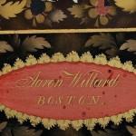[Detail] Aaron Willard Painted Shelf Clock, Boston, c. 1815 (Lot 474,   Estimate $30,000-$50,000)