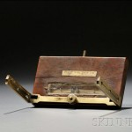 Daniel King Boxwood and Brass Circumferentor, Salem, Massachusetts, c. 1758   (Lot 622, Estimate $8,000-$12,000)