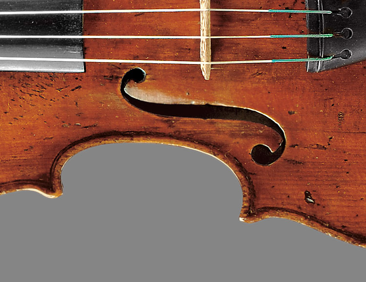[Detail] Fine Italian Violin, Nicolaus Gagliano, Naples, 1720, with Certificate (Lot 33, Estimate $120,000-  $140,000)