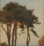 George F. Wetherbee (American, 1851-1920), Cypress at Dusk (Lot 302,   Estimate $800-$1,200)