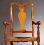Country Queen Anne Maple Armchair, New England, 18th century (Lot 742,   Estimate $200-$250)