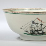 Enamel-decorated Chinese Export Porcelain Punch Bowl with British   Frigates, late 18th/early 19th century (Lot 834, Estimate $700-$900)