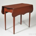 Federal Cherry Pembroke Table, America, early 19th century (Lot 963, Estimate $300-$350)