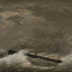 Attributed to Clement Drew (American, 1806-1889) Steamship in a Gale,   c. 1883. (Lot 999, Estimate $300-$500)