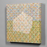 Jennifer Bartlett (American, b. 1941) House: Small Pastel Plaid, 1998 (Lot 578, Estimate $6,000-$8,000)