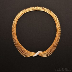 18kt Gold and Diamond 'Angel Hair' Necklace, Van Cleef & Arpels, France (Lot 710, Estimate $10,000-$15,000)