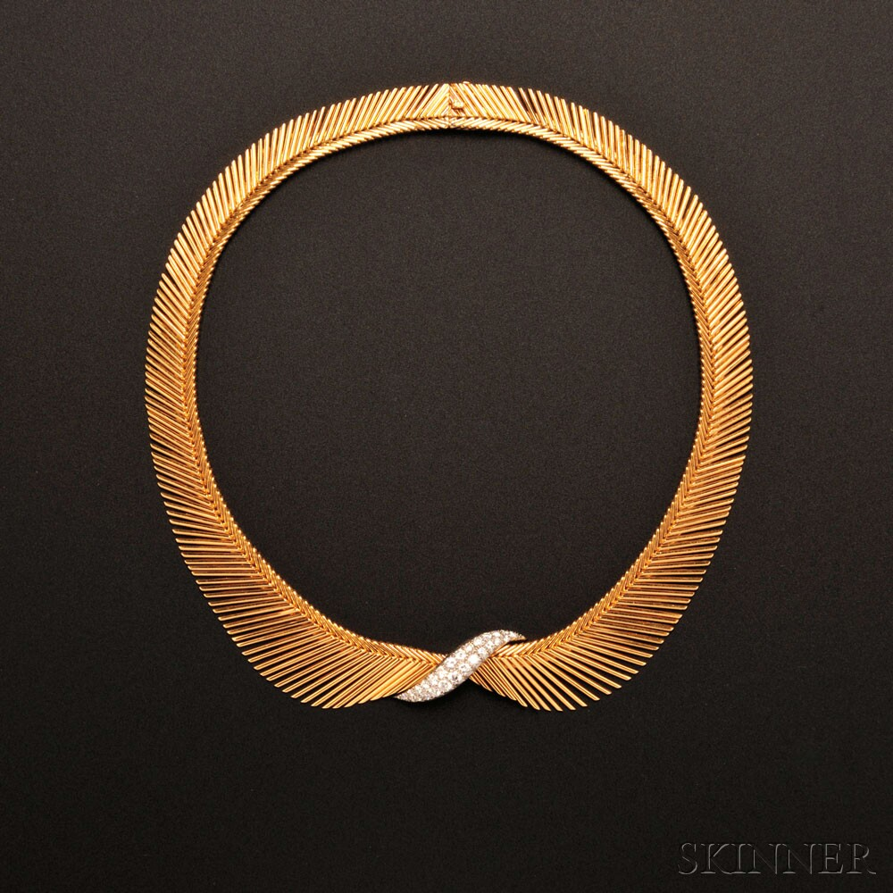 18kt Gold and Diamond 'Angel Hair' Necklace, Van Cleef & Arpels, France (Sold for $43,200)