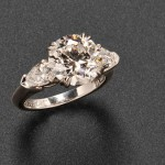 Platinum and Diamond Solitaire, Harry Winston (Lot 772,   Estimate $60,000-$80,000)