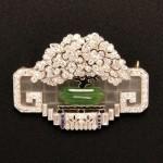 Art Deco Diamond and Gem-set Brooch, J.E. Caldwell & Co (Lot   775, Estimate $6,000-$8,000)