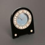 Art Deco Onyx, Enamel, and Diamond Pendulette, Cartier,   Paris, c. 1920s (Lot 782, Estimate $8,000-$10,000)