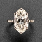 Art Deco Platinum and Diamond Ring, Cartier (Lot 785,  Sold for $180,000)