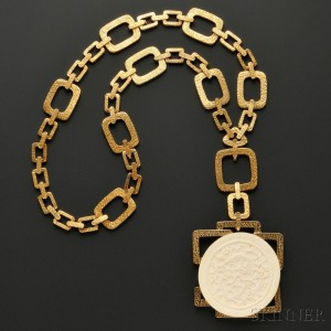 18kt Gold Pendant Necklace, Wander, France (Lot 709, Estimate $10,000-$15,000)