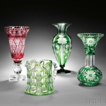 Examples of Cut Glass (Lots 524-527)