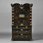George I-style Japanned Bureau Cabinet, England (Lot 552, Estimate $2,000  -$3,000)