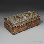 Spanish Colonial Embossed and Polychrome-painted Leather Trunk, late 18th   century (Lot 588, Estimate $5,000-$7,000)