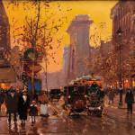Edouard Leon Cortes (French, 1882-1969), Porte St. Denis, Paris (Lot 512,   Estimate $15,000-$20,000)