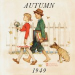 Norman Rockwell (American, 1894-1978), Young Love: Walking to School, 1949   (Lot 593, Estimate $50,000-$70,000)