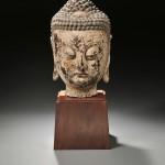 Large Wood Buddha Head, China (Lot 276, Estimate $800-$1,000)