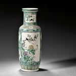 Famille Verte Vase, China (Lot 485, Estimate $300-$500)