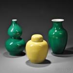 Three Ceramic Pieces, China (Lot 519, Estimate $300-$400)
