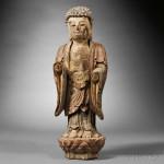 Wooden Buddha, China (Lot 706, Estimate $400-$600)