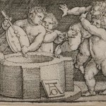 Heinrich Aldegrever (German, 1502-c. 1561) Eight Nude Children at a Well, 1539 (Lot 170, Estimate $300-$500)
