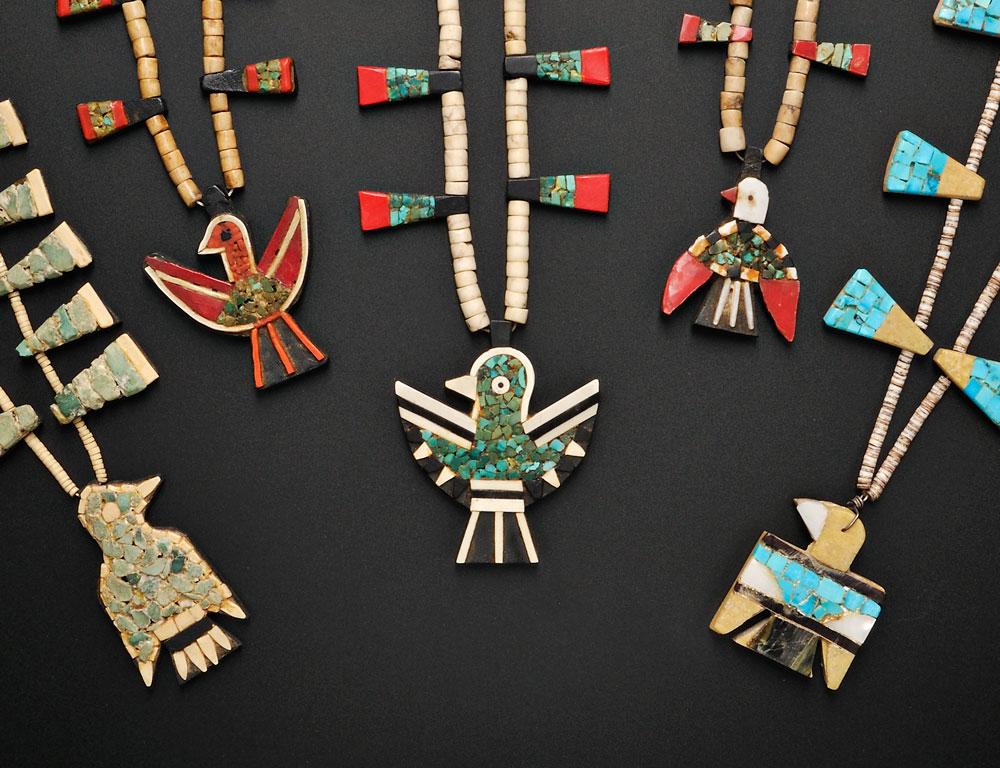 Santo Domingo Pueblo Mosaic Necklaces (Lots 150 and 151)