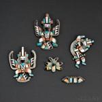 Five Zuni Inlaid Pins (Lot 160, Estimate $400-$600)
