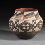Acoma Polychrome Pottery Jar, c. 1900 (Lot 180, Estimate $800-$1,200)