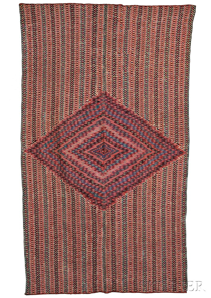 Classic Saltillo Serape, c. early 19th century (Lot 197, Estimate $4,000-  $6,000)