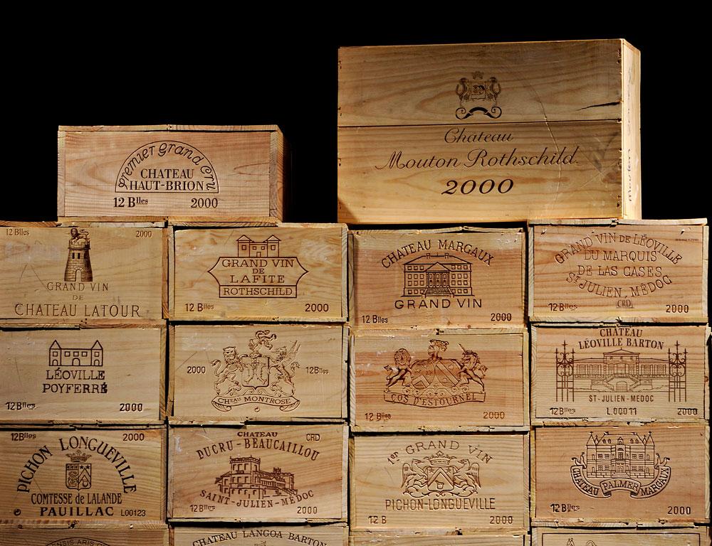 51-case Superlot of Classified 2000 Bordeaux (Lot 137, Estimate   $100,000-$150,000)
