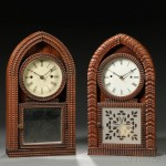Two J.C. Brown Rosewood Fusee Ripple-front Beehive Clock,   Forestville, Connecticut (Lot 177, Estimate $250-$350)
