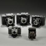 Five Zeiss Ikon Cameras (Lot 386, Estimate $400-$600)