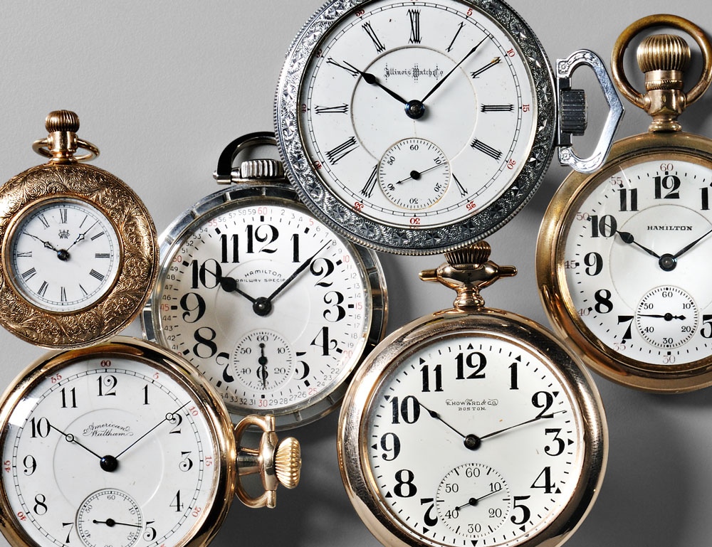 Large group of American Pocket Watches