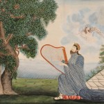 Lucy Douglass, (Massachusetts, c. 1810) The Royal Psalmist (Lot 127, Estimate $30,000-$50,000)