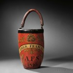 Paint-decorated Leather Fire Bucket, America, c. 1810 (Lot 168, Estimate $1,500-$2,500)