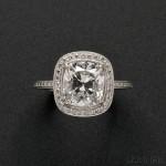 Platinum and Diamond Solitaire (Lot 571, Estimate $40,000-$60,000)