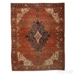 Antique Fereghan Sarouk Carpet, West Persia, early 20th century, 13 ft. 8 in. x 10 ft. 6 in. (Estimate $6,000-$8,000)