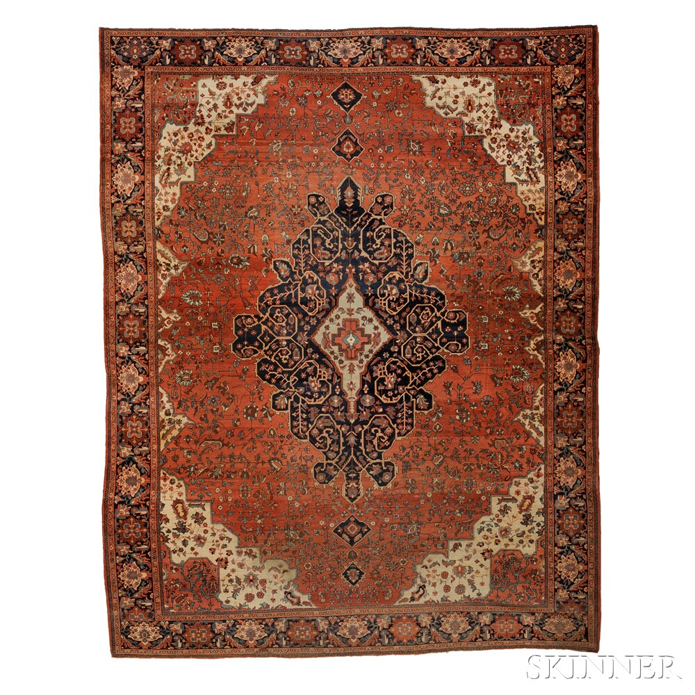 Antique Fereghan Sarouk Carpet, West Persia, Early 20th Century, 13 Ft. 8  In. X 10 Ft. 6 In.