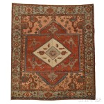 Antique Serapi Carpet, Northwest Persia, late 19th century, 13 ft. 2 in. x 11 ft. 4 in. (Estimate $10,000-$12,000)